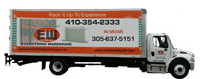 Store Supply and Warehouse Shelving Delivery Truck